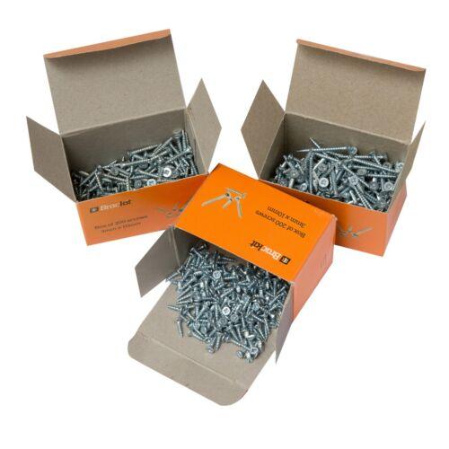 3mm 4mm Various Length Pozidriv Countersunk Zinc Plated Wood Screws 3.5mm