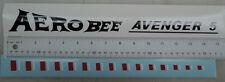 AMF Aero Bee Avenger 5,  7 decal set