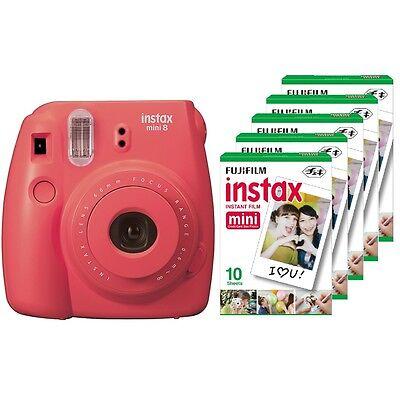 Fuji instax mini 8 raspberry Fujifilm instant camera + 50 film
