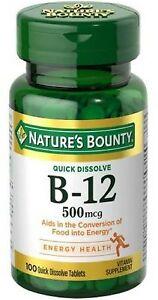 Nature-039-s-Bounty-Vitamin-B-12-500-mcg-100-ea-Pack-of-2