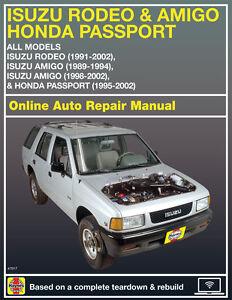 1992 isuzu rodeo haynes online repair manual select access ebay rh ebay com 1992 Isuzu Pickup Repair Manual 1992 isuzu rodeo service manual