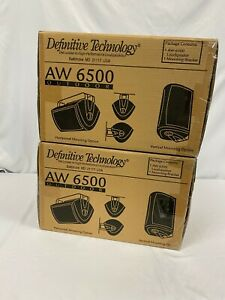 Definitive Technology AW-6500 Black Outdoor Speakers 1 Pair Brand New ***PAIR**