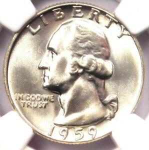 1959-Washington-Quarter-25C-NGC-MS67-Very-Rare-in-MS67-5-250-NGC-Value