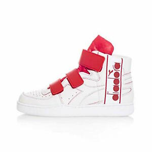 Diadora-Mi-Basket-Tape-Scarpe-Alte-Uomo-Donna-Bianca-Rossa-C6389-white-fiery-red