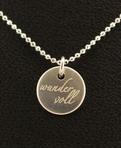 SPRUCHKETTE-034-wundervoll-034-925er-Silber-inkl-Kugelkette-ca-45-cm