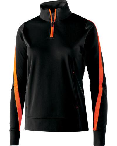 229392 Holloway Ladies/' Polyester 1//4 Zip Determination Pullover
