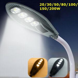 LED-Fluter-Mastleuchte-Strassenlaterne-Hofbeleuchtung-Aussenlampe-AC85-265V-DC12V