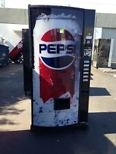 Dixie Narco 360-6 Bubble Front Soda Vending Machine Pepsi/Coke W/Bill Acceptor
