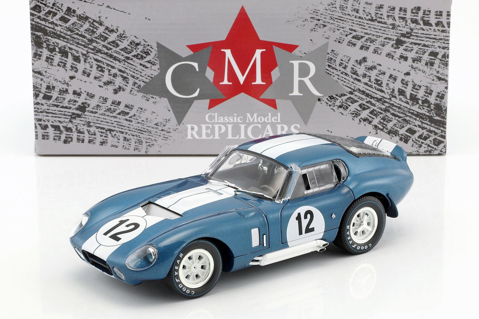 Shelby Cobra Daytona coupé  12 24h LeMans 1965 Schlesser, Grant 1:18 CMR