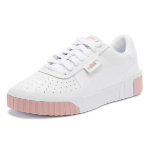 puma cali womens white / rose gold trainers ladies sport