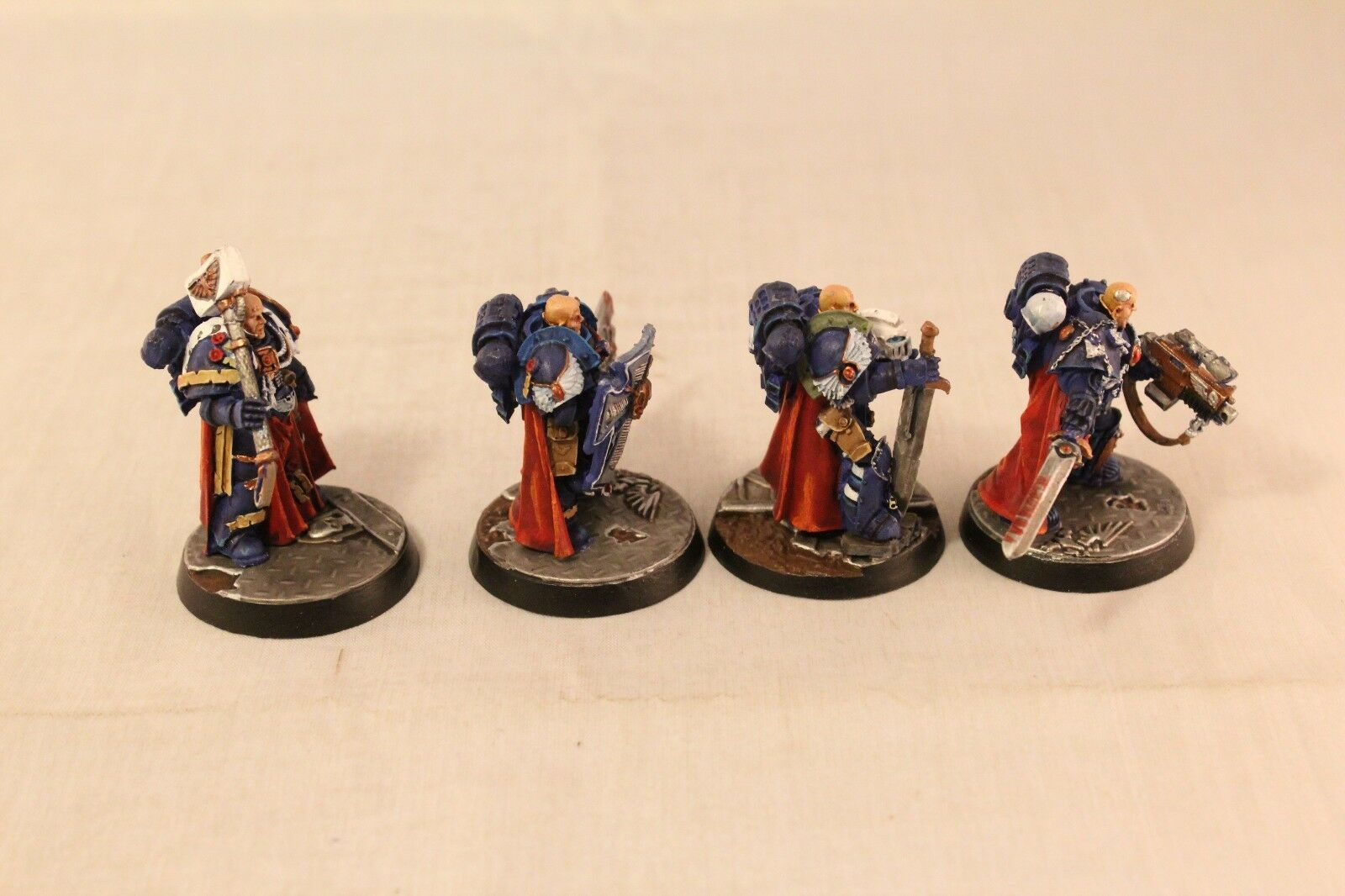 Warhammer Space Marine Finecast Ultramarine Chapter Masters Masters Masters Well Painted be0c54