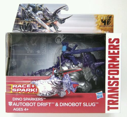 Hasbro Transformers Age of Extinction Dino Sparkers Drift and Slug Figures