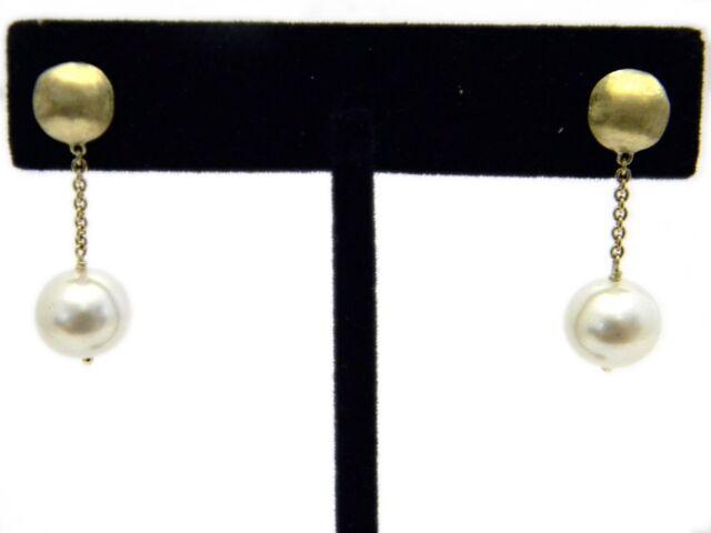 ca28ead50e1 Marco Bicego Africa 18k Yellow Gold Pearl Drop Earrings