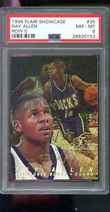 1996-97-Fleer-Flair-Showcase-Row-0-35-Ray-Allen-ROOKIE-RC-NBA-PSA-8-Graded-Card