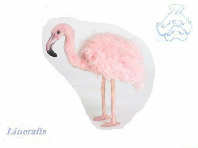 Hansa Pink Flamingo 5680 Plush Soft Toy Bird Sold by Lincrafts Established 1993