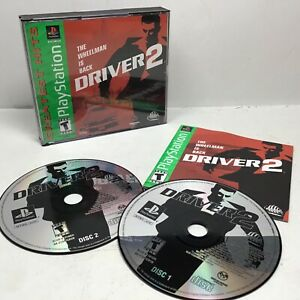 Driver 2 PLAYSTATION 1 Sony PS1 Greatest Hits CIB W/Manual & Registration Card