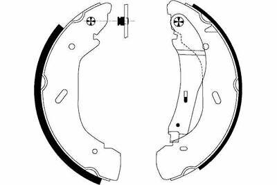 5 YEAR WARRANTY BRAND NEW Mintex Rear Brake Shoe Set MFR478 GENUINE