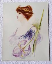 VINTAGE ORIGINAL 1904 LITHOGRAPH PRINT EMINENT ACTRESSES SARAH BERNHARDT #8J
