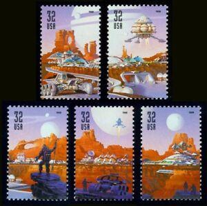 #3238-3242 32c Espacio Discovery, Individuales, Nuevo Cualquier 5=