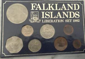 falkland islands liberation coin set 1982