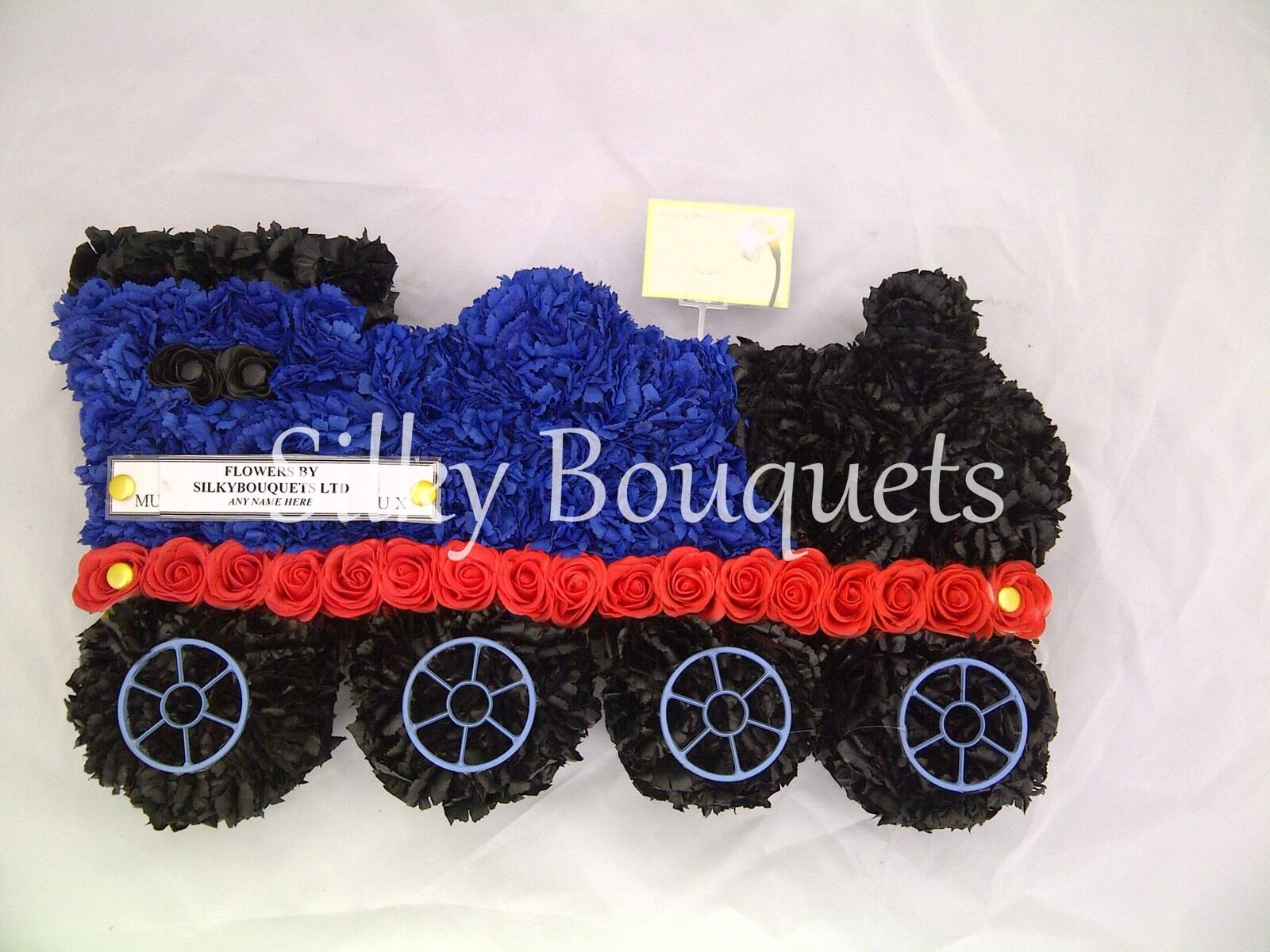 Train Artificial Silk Funeral Flower Tribute Wreath Memorial Son Baby Boy Floral