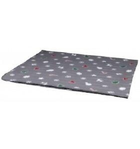 Trixie-Decke-Yuki-Pet-Blanket-Gris-Motif-Noel-100-x-70-cm