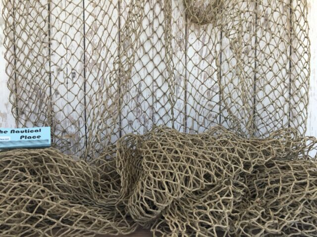 Authentic Used Fishing Net 5 X10 Heavy Commercial Fish Netting Nautical