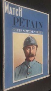Revista París Match Petain Esta Semana Verdun N º 894 28 Mai 1966 Buen Estado