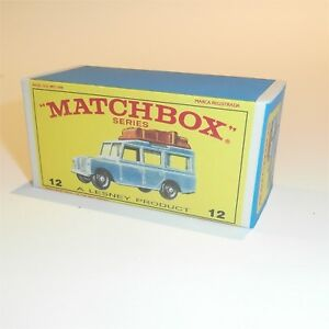 Matchbox-Lesney-12-c3-Land-Rover-Safari-empty-Repro-E-style-Box