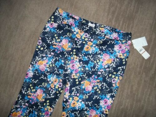 LAUNDRY Shelli Segal INKBLOT Floral CROPPED PANTS Capris Womens Sz 12 $189  NEW