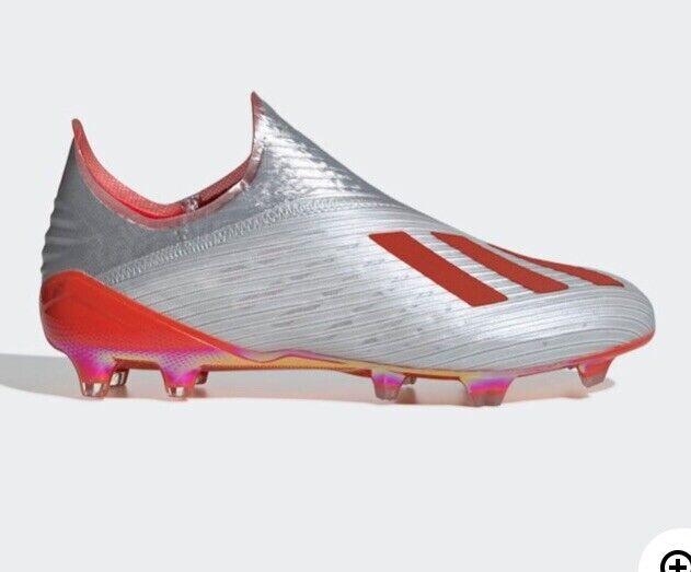 Adidas x 19  Fg Firm Ground Calcio Tacchetti Uomo Sz 11 argentoo Mettuttiico Rosso