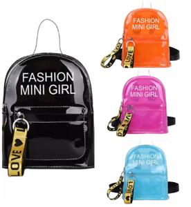 Mini Rucksack Damen Leder Schwarz Mädchen Umhängetasche Handtasche Anhänger ♥