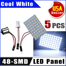 5X Cool White T10/921/194& RV 1141/1156/BA15S 48SMD Interior LED Light Panel 12V