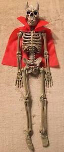 """NEW Devil Dressed Up Skeleton Hanging Halloween Decoration 16/"""" Long"""