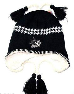 San Jose Sharks Zephyr NHL Hockey Team Tassel Knit Hat Beanie Toque ... f229b4966c1