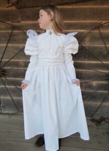 Image Is Loading Modest Quality Historical Characters Dress Costume White Helen