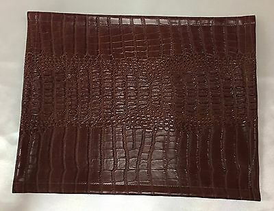 Entusiasta Vinyl, Brown Gator,15x15, Sofa, Loveseat, Chaise, Rv Cover, Headrest, Arm Rest
