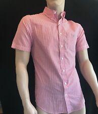 a9b8605b45 BNWT GANT Gents Poplin Banker Bright Red Cotton Shirt Short Sleeve Size S  SAVE £