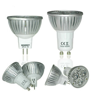 LAMPADINA-FARETTO-LED-LAMPADA-MR16-4W-6W-12V-CALDA-FREDDA-Dimmerabile-Luce-Light