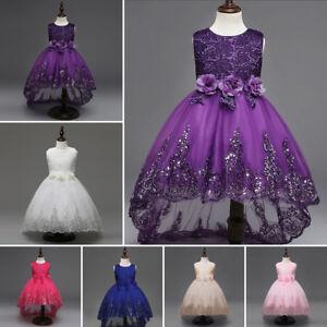 Pour-Demoiselle-D-039-Honneur-Robe-Princesse-Enfants-Fete-D-039-Anniversire-Habille