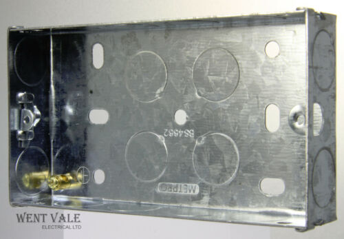 BS 4662-1 Gang and Two Gang Switch and Socket Boxes. Various Flush Mounted