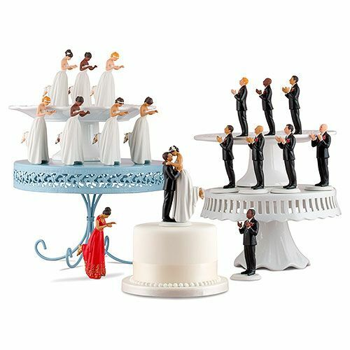 Interchangeable True Romance Bride and Groom Wedding Cake Topper