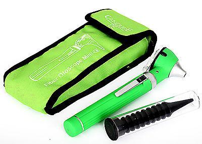 Green Mini Otoscope Fiber Optic-Medical Diagnostic Examination-CE Approved
