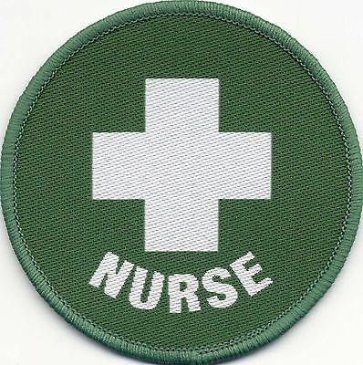Nurse Woven Badge Patch Circle 71mm Diameter UK Manufactured