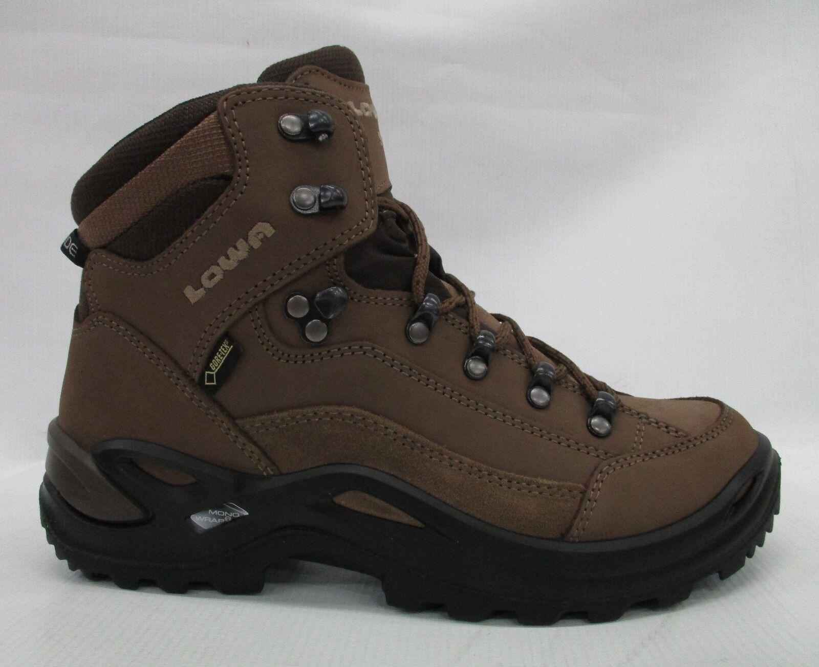 Lowa Renegade gore-tex Mid Mid Mid botas para mujer 320968 4655 Taupe Sepia tamaño 8 amplia  buscando agente de ventas