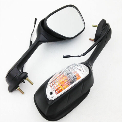 For Suzuki GSXR 600750 200612 &GSXR 1000 200512 Side Mirrors With Turn Signal