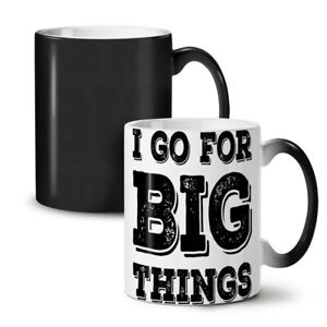 Go Big Motivation NEW Colour Changing Tea Coffee Mug 11 oz | Wellcoda