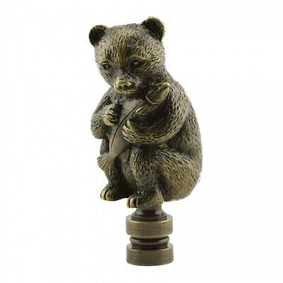 Antique Brass Baby Bears Finial Lamp Shade Topper Part Decoration NEW