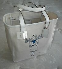 NWT Coach Ltd Ed 2009 Fashions Night Out Natural Canvas Gallery Tote Bag Purse