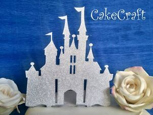 glitter acrylic disney princess castle birthday wedding cake topper